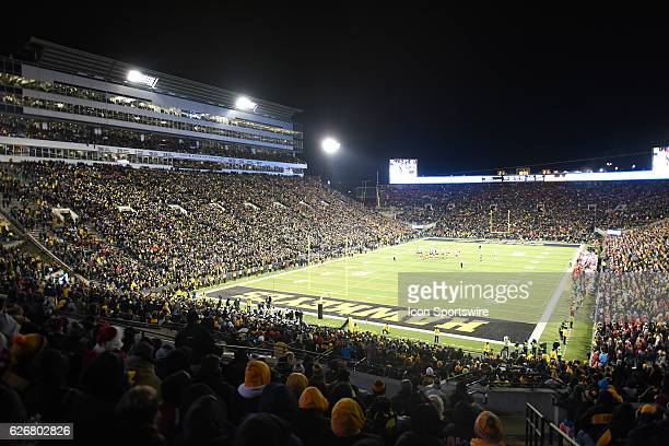 A view of Kinnick Stadium from the south endzone during a Big Ten Conference football game between the Nebraska Cornhuskers and the Iowa Hawkeyes on...