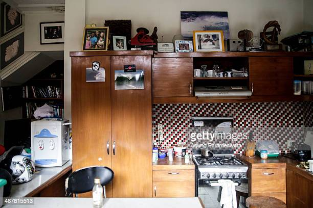 A view of kitchen in a house where Australian drug trafficker Schapelle Corby's sister and brother in law Mercedes Corby and Wayan Widyartha live on...