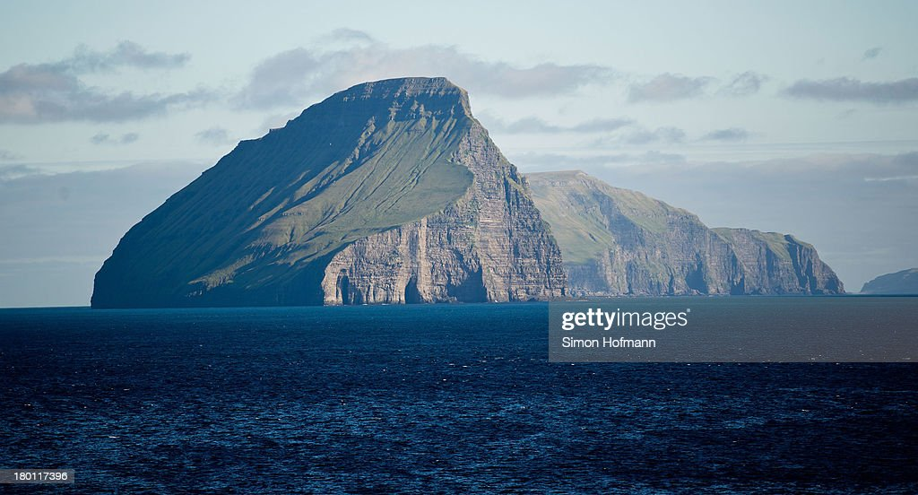 A view of Koltur island is seen from Midvagur on September 7 2013 in Midvagur Faroe Islands