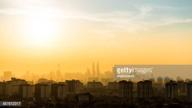 View of Kuala Lumpur sunset