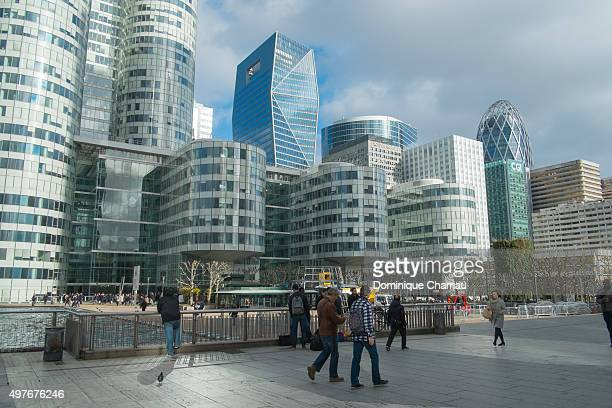 A view of La Defense business district which is to believed to have been a target for a terrorist attack on November 18 2015 in Paris France Earlier...