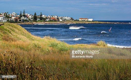 View of La Gorgorita beach, Punta del Este Uruguay
