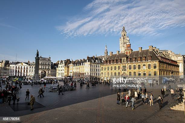 A view of La Grand Place of the northern French city of Lille on October 30 2014 Lille is the fourthlargest metropolitan area in France after those...