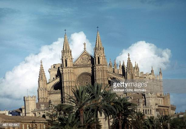 A view of La Seu Palma Cathedral in Palma Majorca Spain