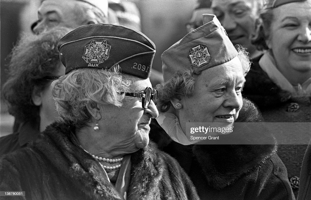 View of Ladies Auxiliary members of an American Legion post Boston Massachusetts 1969