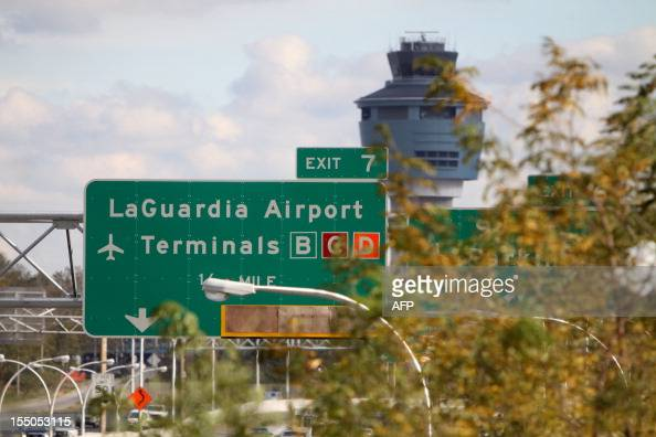 A view of LaGuardia Airport still closed after Hurricane Sandy in New York on October 31 2012 The John F Kennedy and Newark Liberty airports both of...