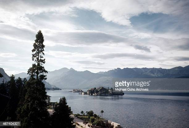 A view of Lake Maggiore in Stresa Italy