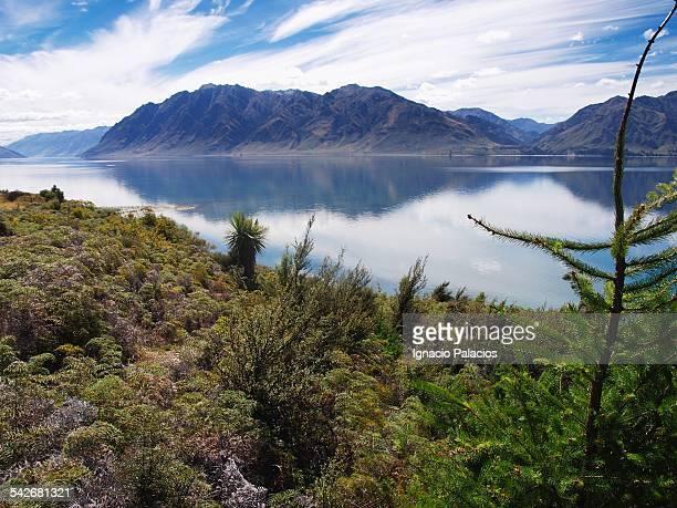 View of lake near Wanaka