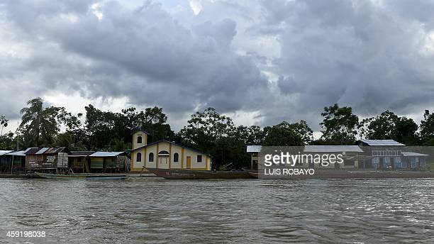 View of Las Mercedes rural area of Quibdo Department of Choco Colombia on November 18 where Colombian General Ruben Alzate was kidnapped Colombia's...