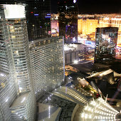 View of Las Vegas Strip and City Center