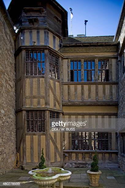 View of Leeds castle built between 12th16th century in Medieval and Renaissance style Maidstone Kent United Kingdom