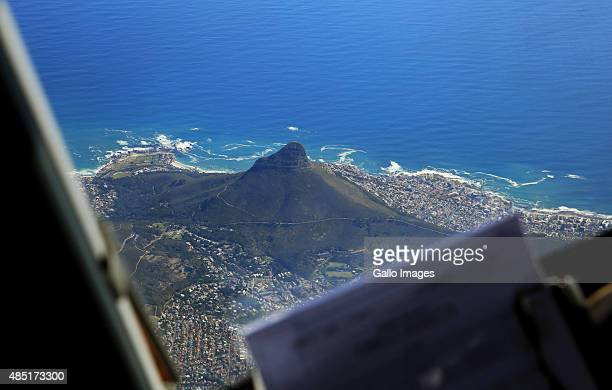 A view of Lion's Head from the cockpit of a Mango Airlines Boeing 737800 with captain Lourens Sadler and copilot first officer Mohau Tlhapuletsa...