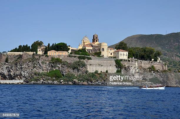 View of Lipari Church and Fortress from a Boat