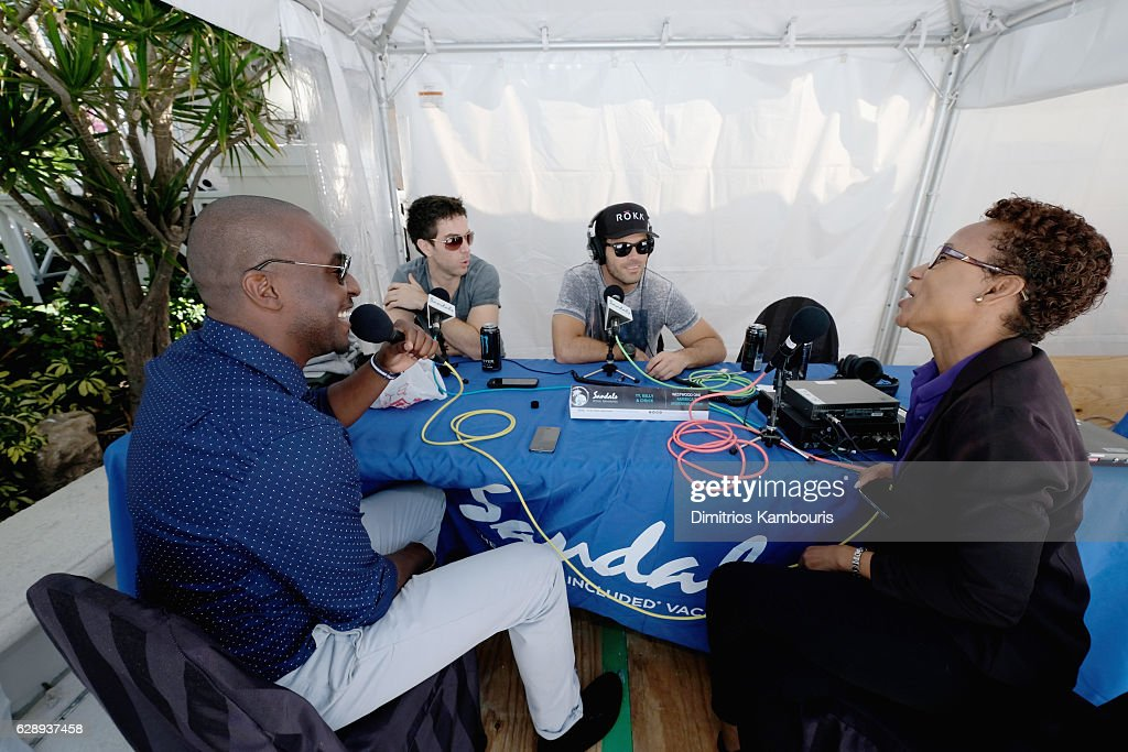 View of live radio broadcast during CMT Story Behind The Songs LIV + Weekend at Sandals Royal Bahamian Spa Resort & Offshore Island - Day 3 at Sandals Royal Bahamian on December 10, 2016 in Nassau, Bahamas.