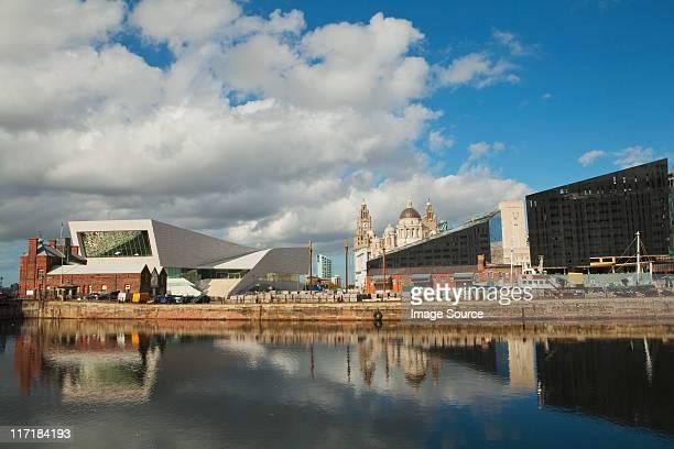 View of Liver Building from Albert Dock, Liverpoool, UK