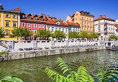 Ljubljana city, famous Slovenian tourist destination
