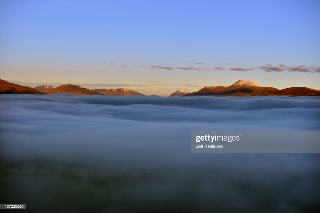 A view of Loch Lomond from Duncryne hill, by Gartocharn on November 30, 2012 in Loch Lomond, Scotland. Weather warnings have been issued as temperatures start to fall below freezing across many parts of the UK. The cold snap follows recent, severe flooding, which has affected areas of Western and Northen England.