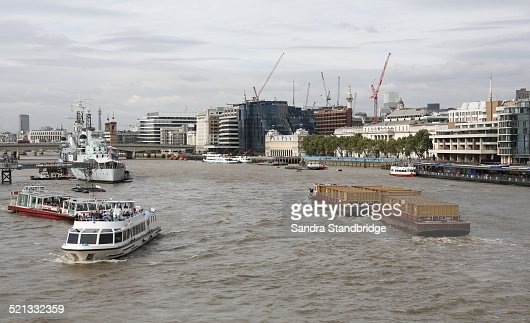 A view of London and the Thames