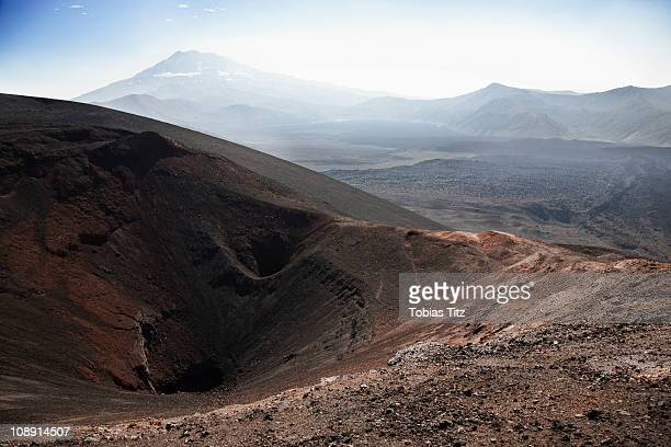 View of Lonquimay Volcano, Patagonia, Chile