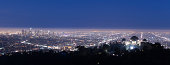 Panoramic view of Los Angeles from the Hollywood hills