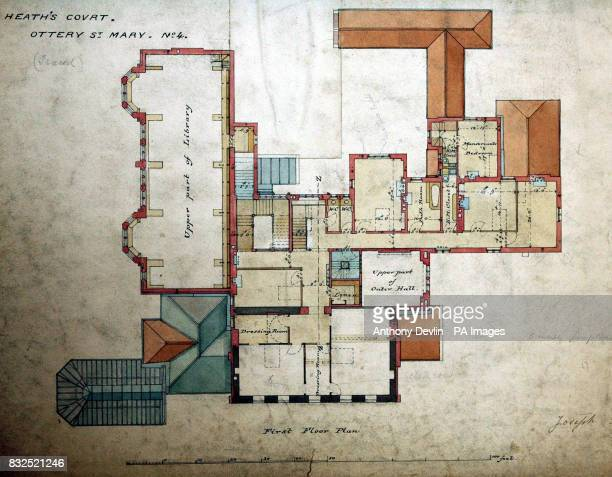 A view of Lot 4 plans and drawings of Chanter's House from 18141900 by William Butterfield which is expected to fetch between 46 at the Chanter's...