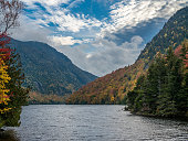 View of Lower Ausable Lake in Adirondack Mountains