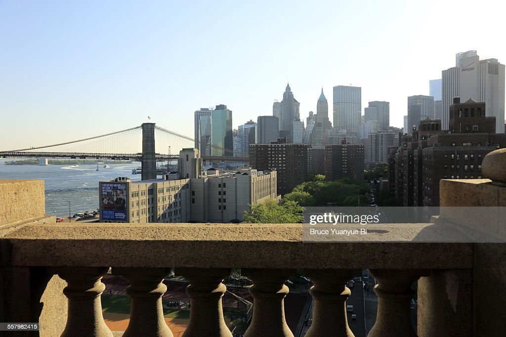 View of Lower Manhattan and Brooklyn Bridge