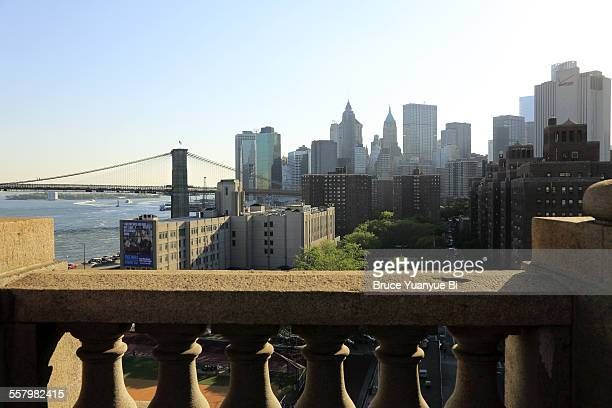View of Lower Manhattan and Brooklyn Bridge