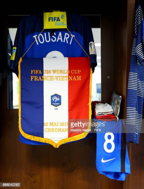 A view of Lucas Tousart of France's locker before the FIFA U20 World Cup Korea Republic 2017 group E match between France and Vietnam at Cheonan...