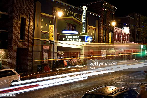 A view of Main St during 2016 Sundance Film Festival on January 22 2016 in Park City Utah