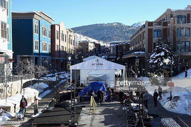 A view of Main Street as Park City Prepares for the 2017 Sundance Film Festival on January 18 2017 in Park City Utah