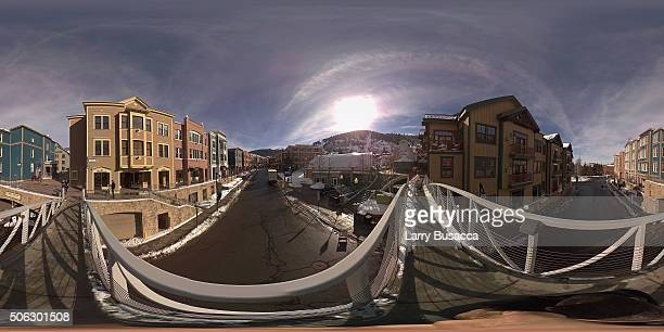 View of Main Street Park City during the 2016 Sundance Film Festival on January 21 2016 in Park City Utah
