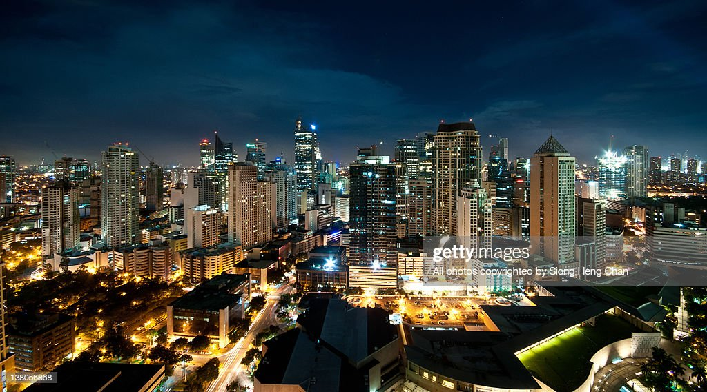 View of Makati at night