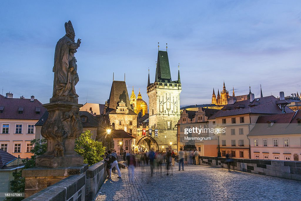 View of Mala Strana from Charles Bridge : Stock Photo