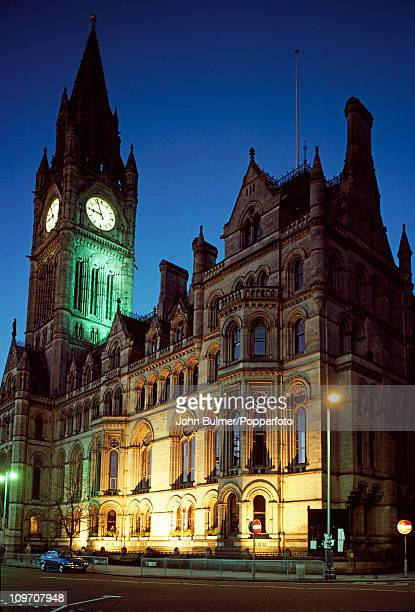 A view of Manchester Town Hall a Victorian neogothic building completed in 1877