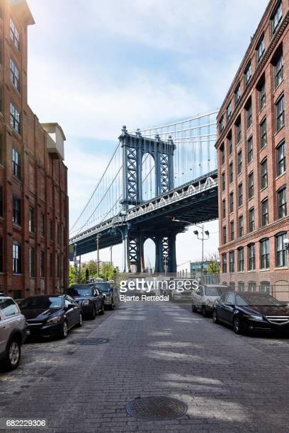 View of Manhattan Bridge from Dumbo, Brooklyn