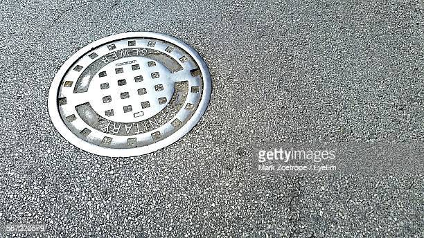 View Of Manhole On Street