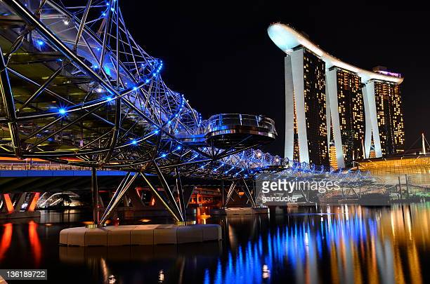 View of Marina Bay Sands and Helix Bridge