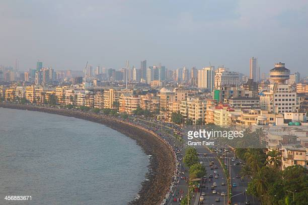 View of Marine drive beaches at evening.