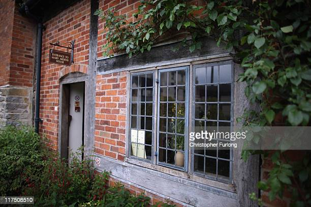 A view of Mary Arden's Cottage on June 27 2011 in StratforduponAvon England StratfordUponAvon the birthplace of William Shakespeare and the home to...