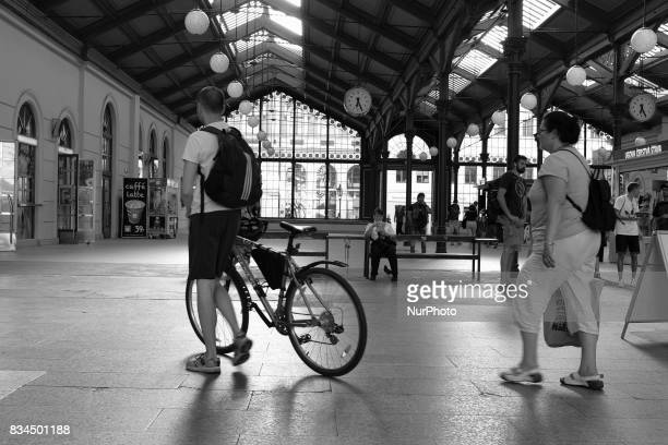 View of Masarykovo nadrazí train station in Prague Czech Republic on 17 August 2017 The oldest of the train stations in Prague it was founded in 1845...