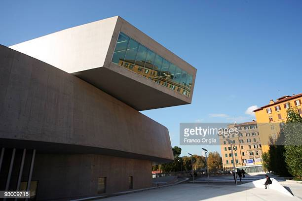 A view of MAXXI The 21st Century Arts Museum during an architectural preview on November 12 2009 in Rome Italy