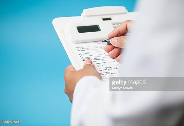 Vista de lista de verificação de Médico