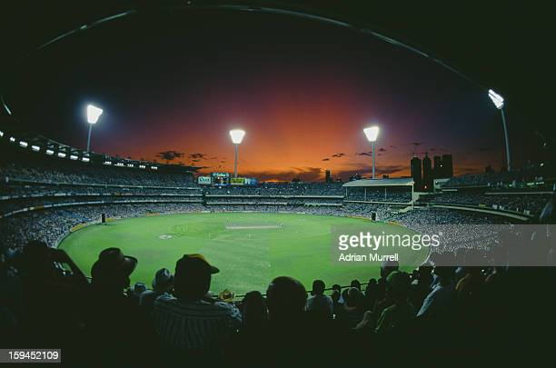 A view of Melbourne Cricket Ground during the Cricket World Cup final between England and Pakistan Melbourne Australia 25th March 1992 Pakistan won...