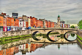 View of Mellows Bridge in Dublin - Ireland