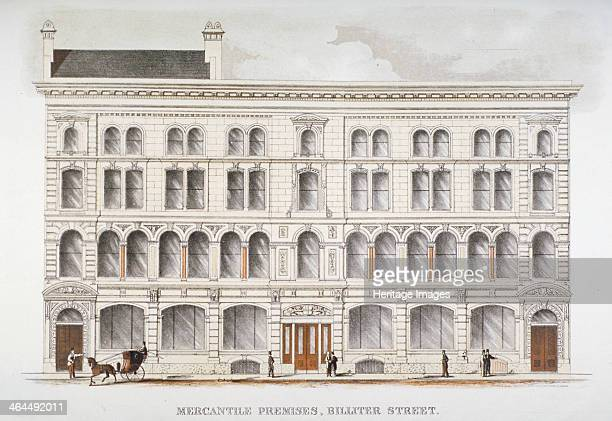 View of mercantile premises Billiter Street City of London 1875