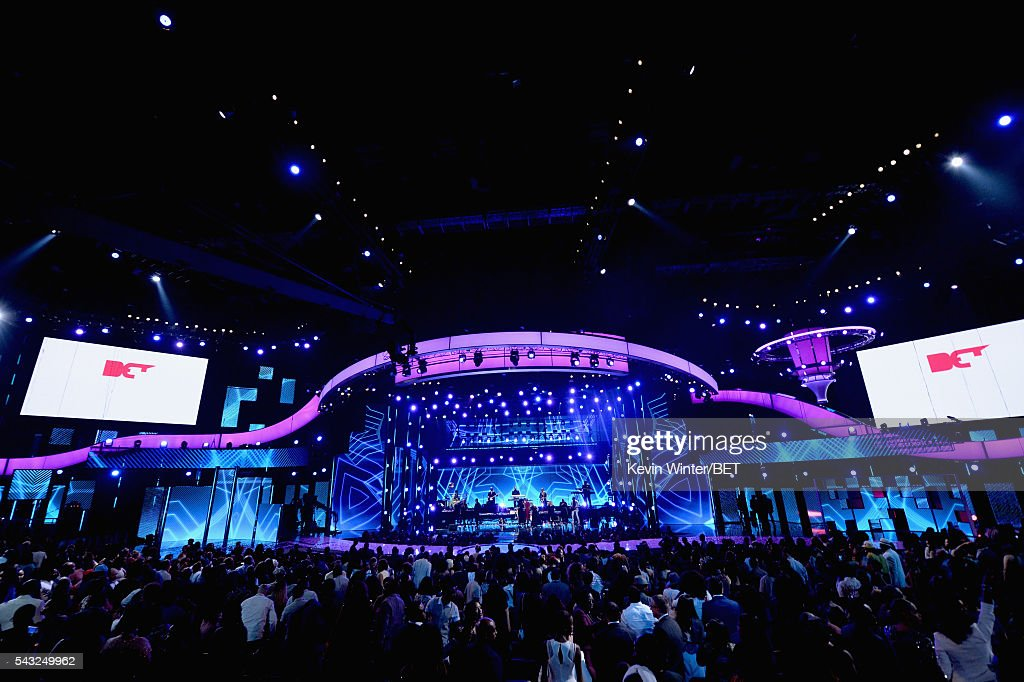 A view of Microsoft Theater during the 2016 BET Awards at the Microsoft Theater on June 26, 2016 in Los Angeles, California.
