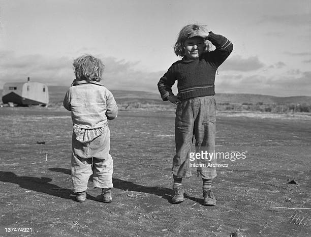 View of migrant children in Merrill Klamath County Oregon October 1939 Farm Security Administration