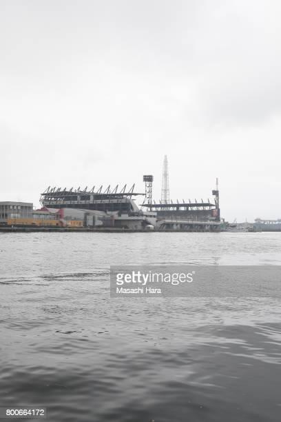View of Mikuni World Stadium prior to the JLeague J3 match between Giravanz Kitakyushu and AC Nagano Parceiro at Mikuni World Stadium on June 25 2017...