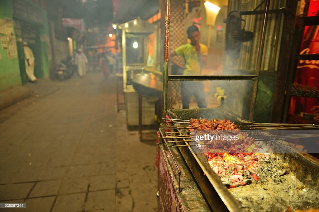 A view of Mirza Ghalib Street at Hazrat Nizamuddin Basti on October 19, 2015 in New Delhi, India.